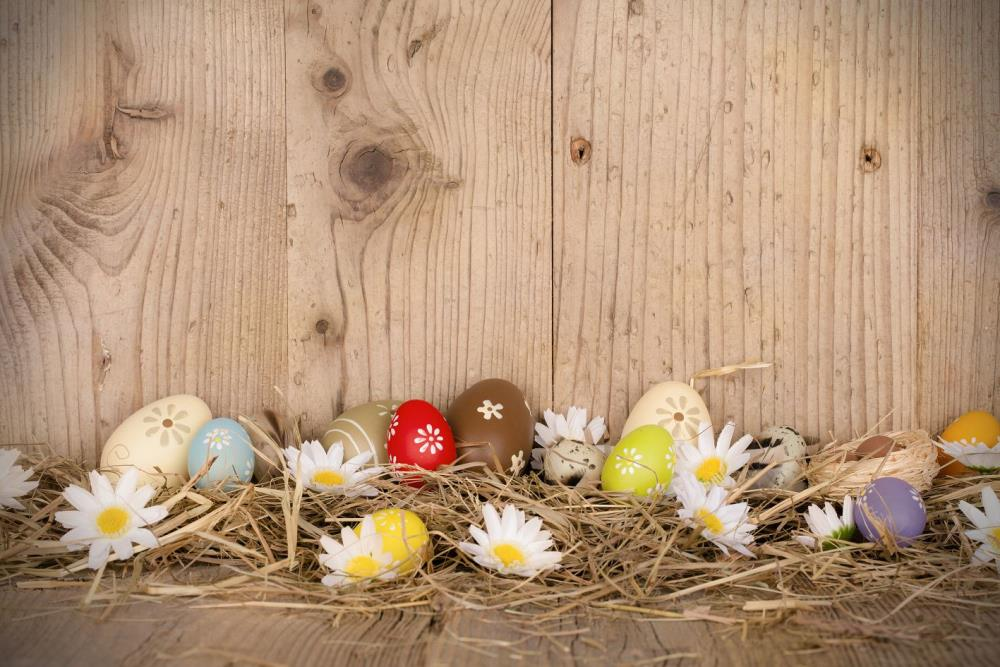 300cm*200cm Easter Day Hay wood walls eggs studio photo easter photography backdrops ZJ<br><br>Aliexpress