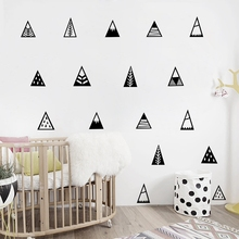 Nordic style Mountains Wall Sticker Home Decor Kids Bedroom Wall Decals Cute Mountain Art Decor(China (Mainland))