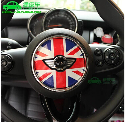AAA Car steering wheel stickers for MINI COOPER F56 F55 one+ fun CAR STYLING(China (Mainland))