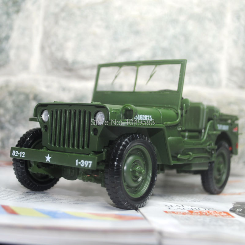 KAIDIWEI 1/18 Scale World War II U. S. Army Willys JEEP Diecast Metal Car Model Toy New In Box For Collection/Gift/Kids(China (Mainland))