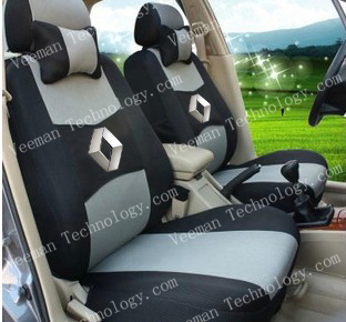 Free Shipping+Universal Seat Cover For RENAULT Scenic Clio Megane Laguna Twingo Espace+Breathable Material+Logo+Two Neck Pillows(China (Mainland))