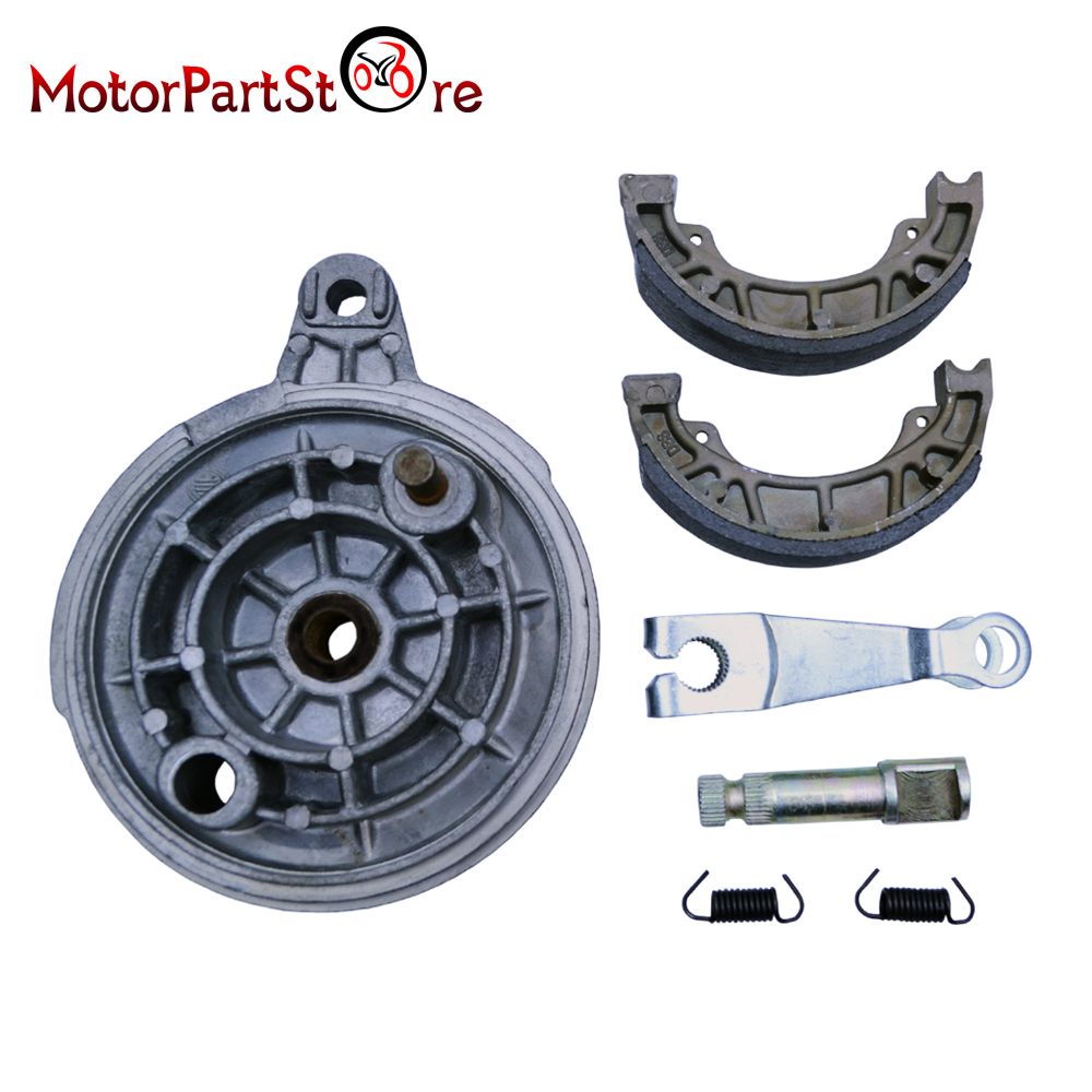 Rear Brake Hub Drum Shoes Pads for Yamaha PW80 PY80 Coyote80 PEEWEE Wheel Cover ATV Motorcycle Dirt Motorbike Part(China (Mainland))
