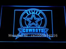b483-b Dallas Cowboys Badge LED Neon Light Signn Wholesale Dropshipping On/ Off Switch 7 colors DHL(China (Mainland))