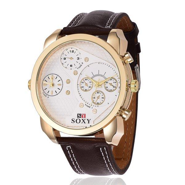 2015 SOXY Luxury Brand Watch Fashion Military Quartz Watch Leather Sport Watches Men Clock Hour montre homme relogio masculino(China (Mainland))