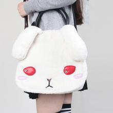 New Cute Bunny Ears Lolita Tote Bag Cartoon Rabbit Style Shoulder Messenger Bag Mochila School Bags(China (Mainland))