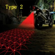 Motorcycle Auto Anti-collision Tail Laser Fog Lamp Car Anti-fog Parking Taillight Stop Brake Car LED Warning Light HA10492(China (Mainland))