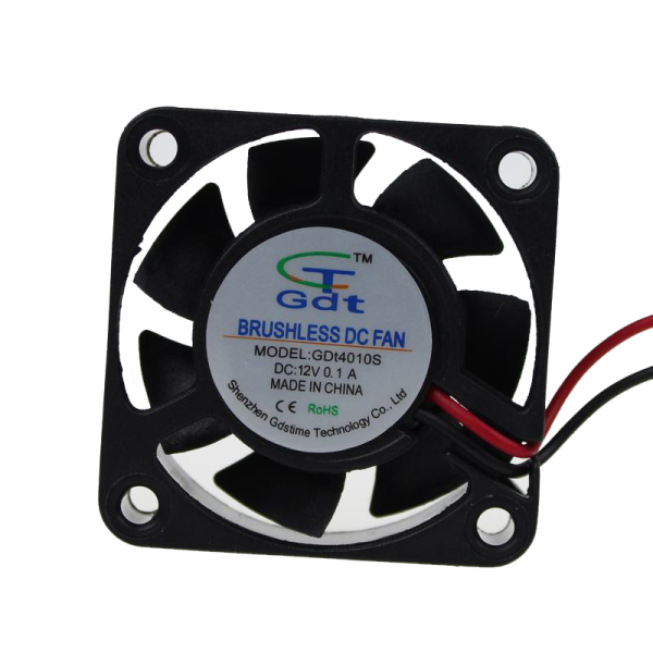 2pcs/lot GDT 12v 2pin Axial cooler 40mm 40x40x10mm Cooling Fan DC(China (Mainland))