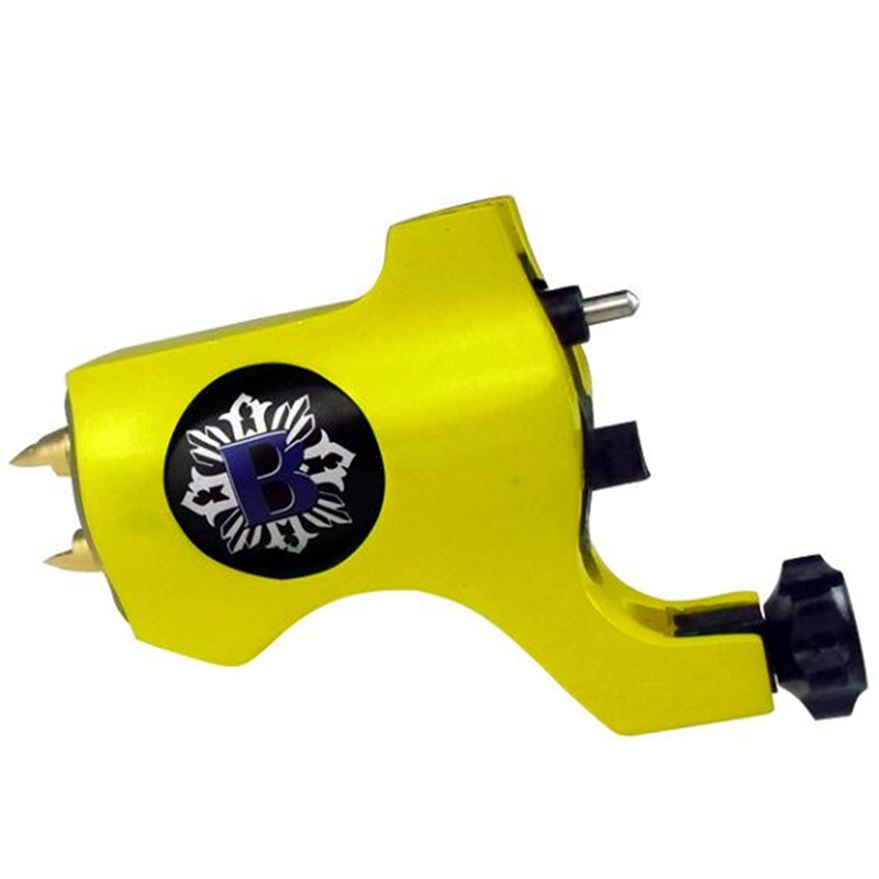 Hot Sales New Bishop Rotary Tattoo Machine For Shader and Liner Yellow High Quality Fashion Tattoo Machine Free Shipping(China (Mainland))