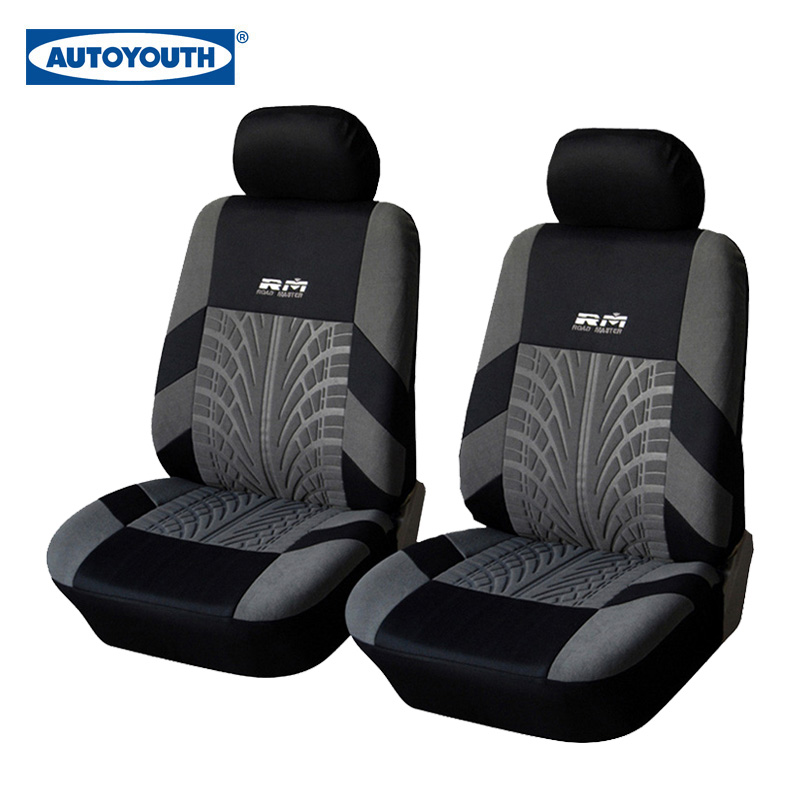 AUTOYOUTH Hot Sale Front Car Seat Covers Universal Fit Tire Track Detail Vehicle Design Seat Protective Interior Accessories(China (Mainland))