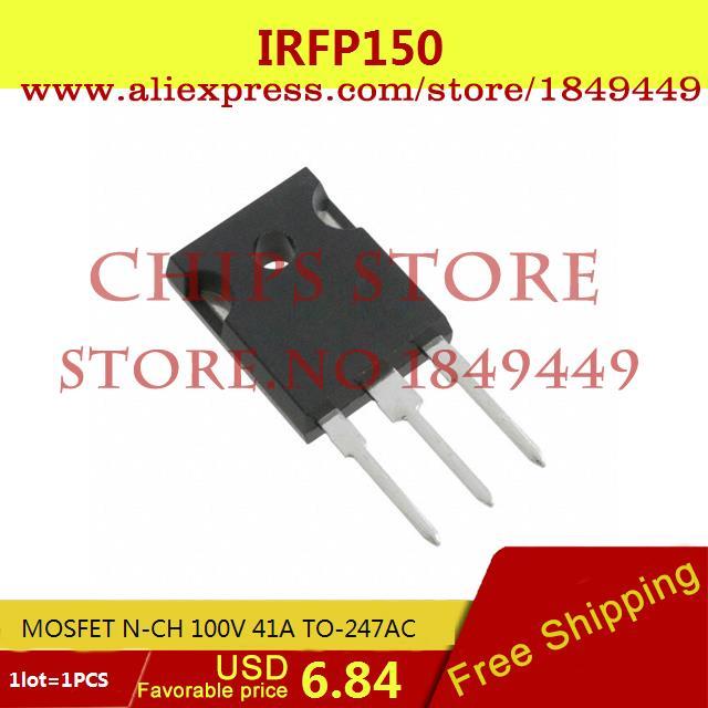 Бесплатная Доставка Электроники IRFP150 MOSFET N-CH 100 В 41A TO-247AC 150 1 ШТ.  free shipping 10pcs irfp4668pbf irfp4668 mosfet n ch 200v 130a 520w to 247ac