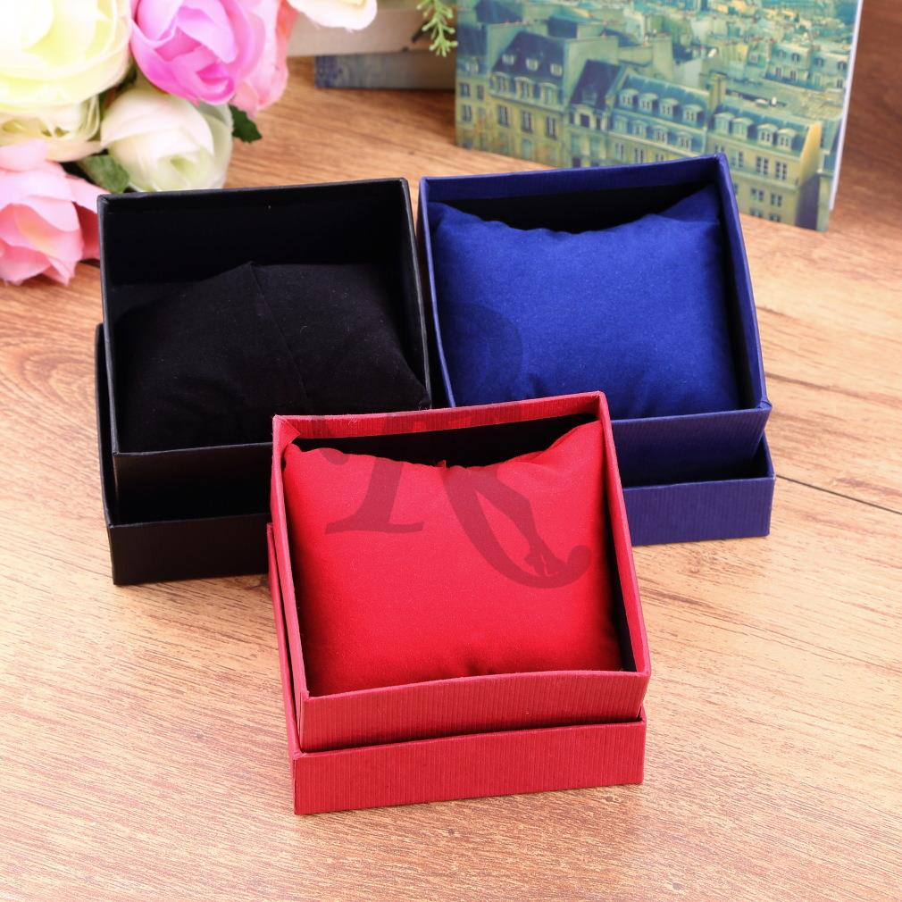 1pc Bracelet Jewelry Watch display watch holder With Foam Pad Inside Present Gift Box Case For Bangle watch boxes and packaging(China (Mainland))