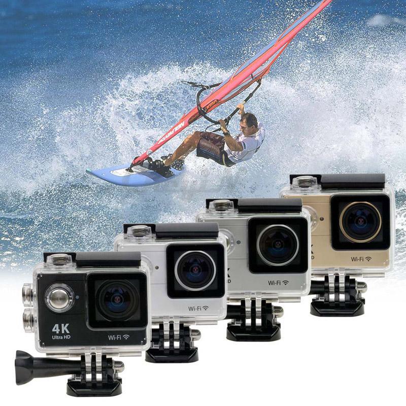 4K Ultra HD WiFi Action Camera 1080P/60fps 2'' LCD 170D Lens Helmet Cam Underwater Waterproof Mini Camera Extreme Sport Cam 8213