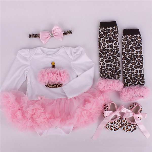 New Arrival 2015 Retail newborn rompers cartoon cute Dress + shoes+socks+hairband baby kids girl clothes free shipping(China (Mainland))