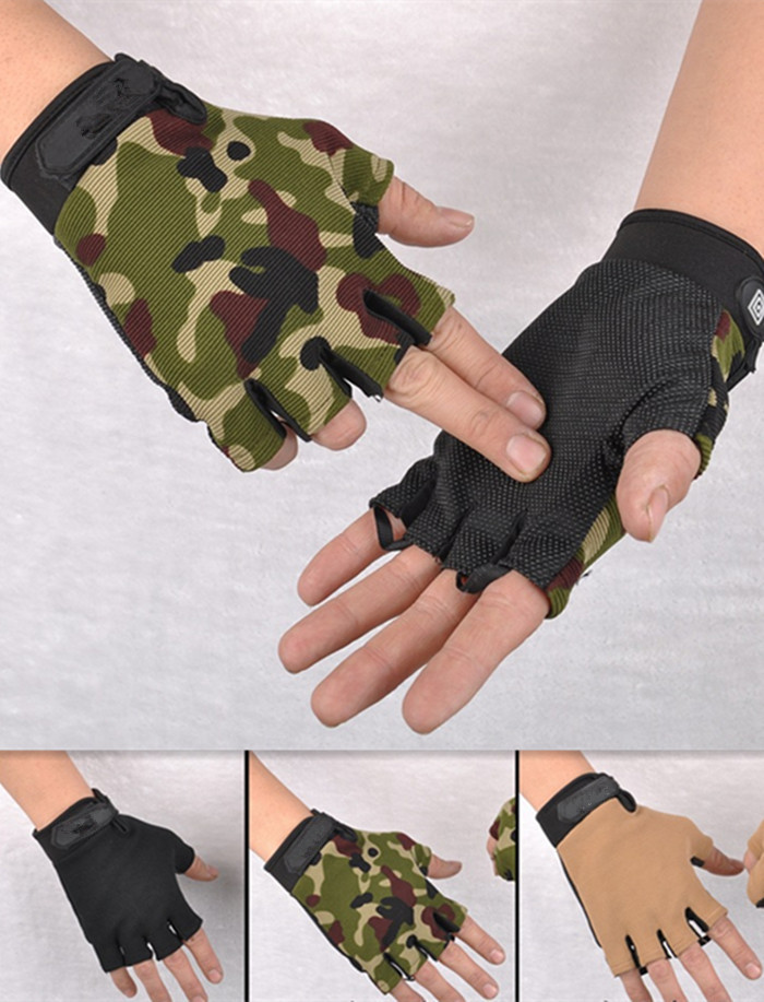 Outdoor driving tactical exercise half finger fitness gloves sports fingerless microfiber mens&womens training gloves JXY0150(China (Mainland))