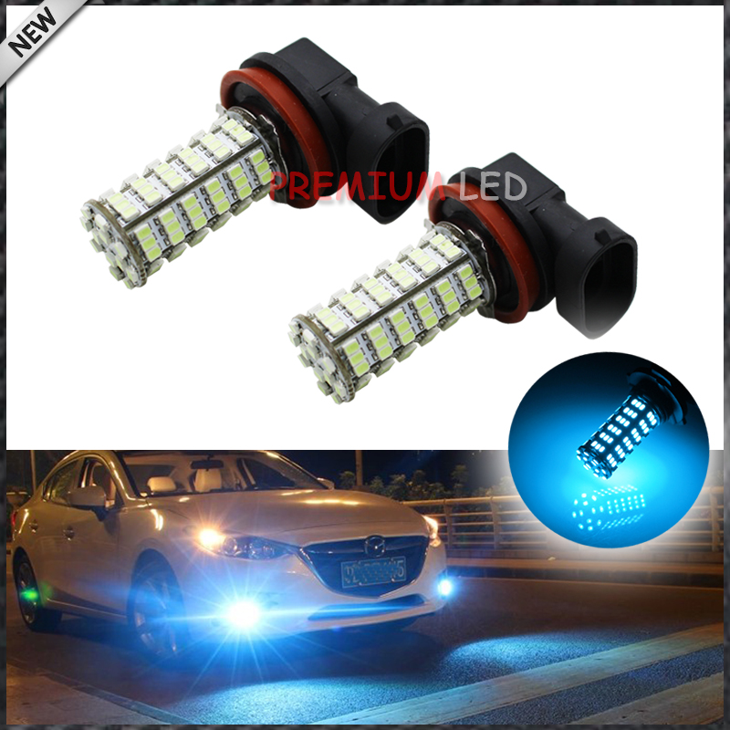 2pcs 10000K Ice Blue 120-SMD H11 H8 H9 LED Bulbs For Fog Light Replacements<br><br>Aliexpress