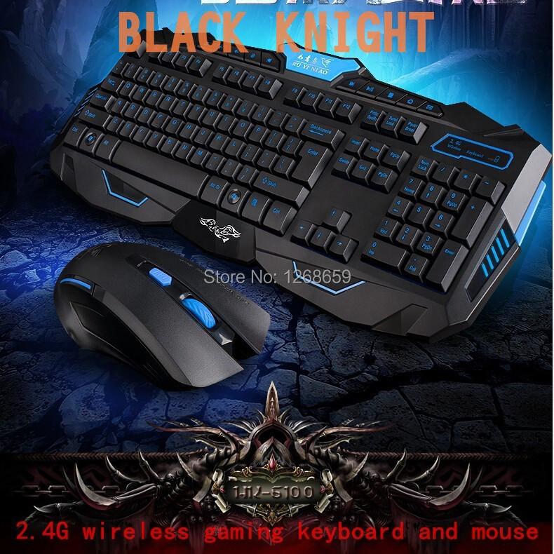 Ruyi bird 6100 gaming wireless 2.4g keyboard and mouse set combo computer TV Multimedia game gamer keyboard kit Waterproof(China (Mainland))