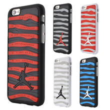 3D Jordan shoes Phone case For Smsung galaxy S6 S7 edge stripe PVC Rubber Cover for iPhone 5 5S 6 6 plus Jump man Plastic Shell(China (Mainland))