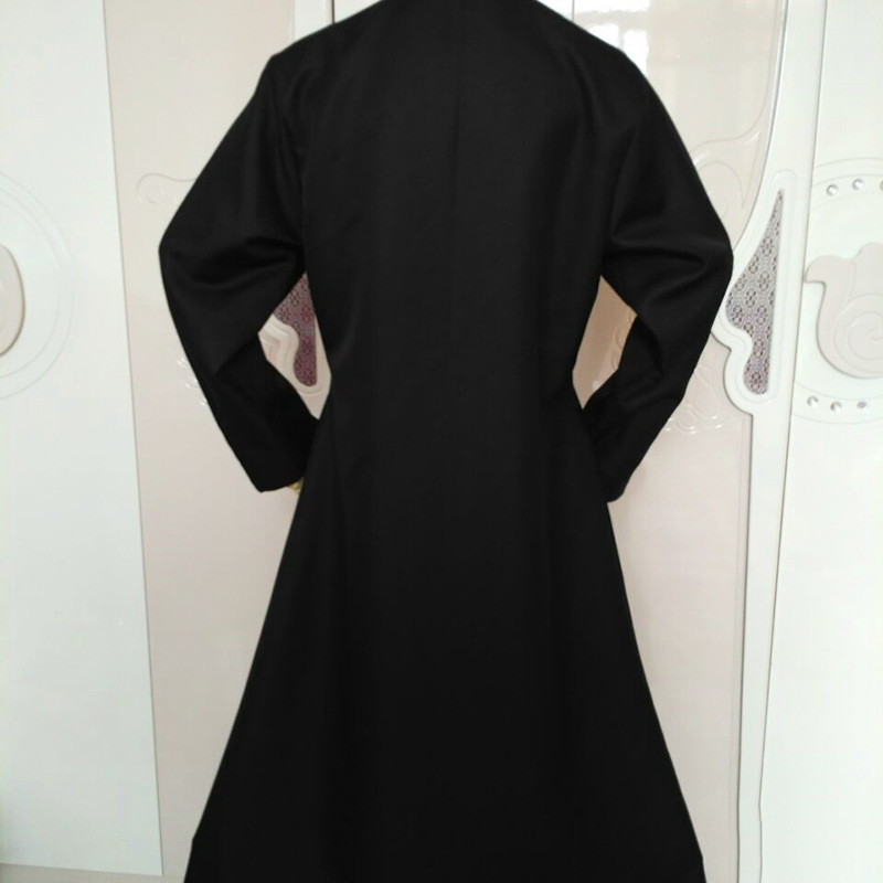 Details about  /Matrix Neo Long Black Leather Trench Coat Outfit Costume Cosplay Jacket Carniv /&