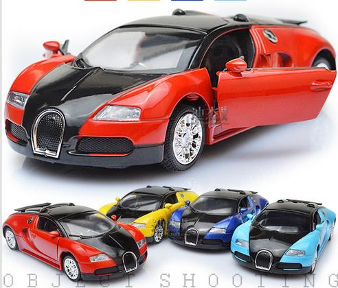 High Quality Model Bugatti Veyron Diecast Car Model With Sound&Light Collection Car Toys Vehicle Gift,Children's Toys(China (Mainland))