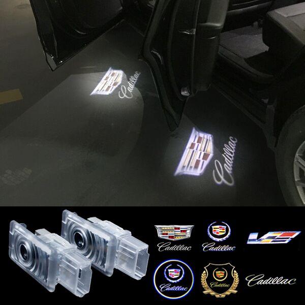 LED Car Door Welcome Light Laser Car Door Shadow led Projector Logo For Cadillac SRX SXT ATS CTS XT5 CT6(China (Mainland))