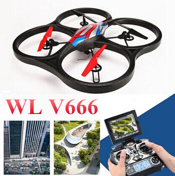 Large rc helicopter toys WL V666 quadcopter drone with 5.8G HZ video transmission 2.0MP HD camera RTF(China (Mainland))