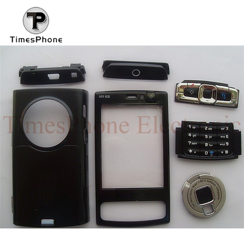 Replacement Full Housing Case + Keypads For Nokia N95 8GB Housing Cover Black Color +Free Shipping and Tools Gift(China (Mainland))