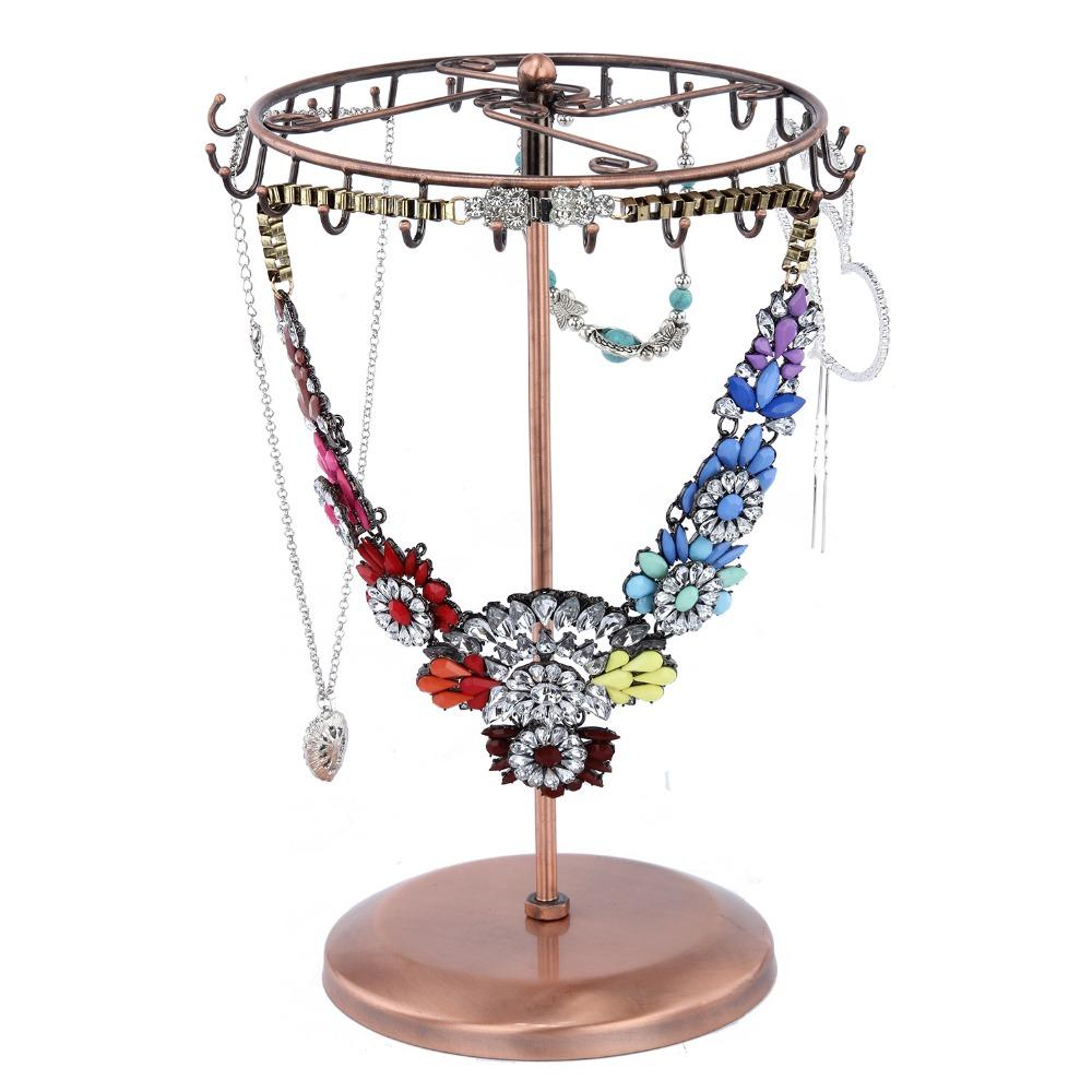 revolving metal display necklace earring ring bracelet