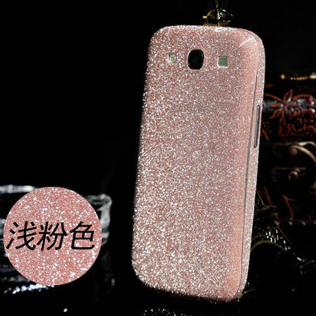 Ultra thin Coque s3 Bling Sticker full Glitter Back Film Protector Case Cover fit For Samsung Galaxy S3 i9300 Capinha(China (Mainland))