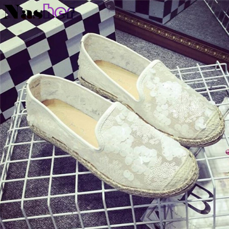 2016 fashion sequins round head bud silk fabric is breathable leisure fisherman shoes for women's shoes wholesale market FG250(China (Mainland))