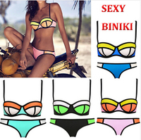 100% waterproof  Swimsuit Triangl Biniki chloroprene rubber waterproof Bikini neoprene swimsuit Bath Suit Push Up Bikini set