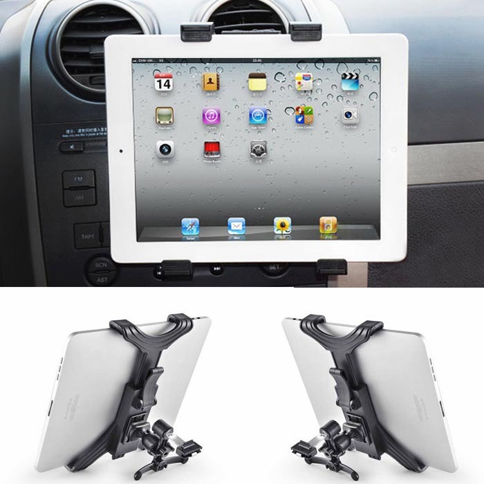 Malloom 2016 Universal Car Air Vent Mount Cradle Holder For iPad 2/3/4/5 Size under 10 inch Tablet frete greatsuiton #J017(China (Mainland))