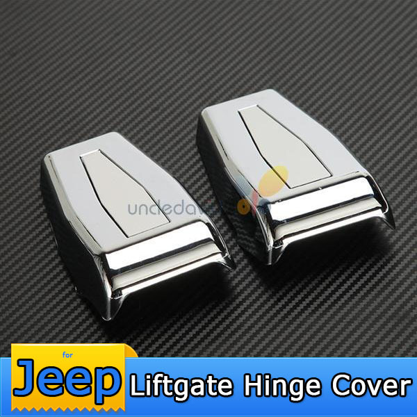 Chrome Silver Hinge Cover For Jeep Wrangler JK 2007~2014 Auto Rear Upper Hardtop Liftgate Window Trim Protector Cover Replacment(China (Mainland))