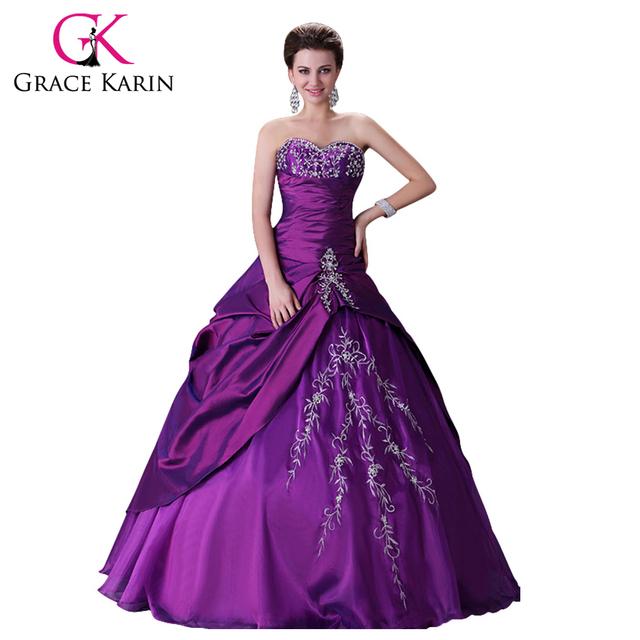 Элегантный дизайн бесплатная доставка фиолетовый свадебные платья длинные бальное ...