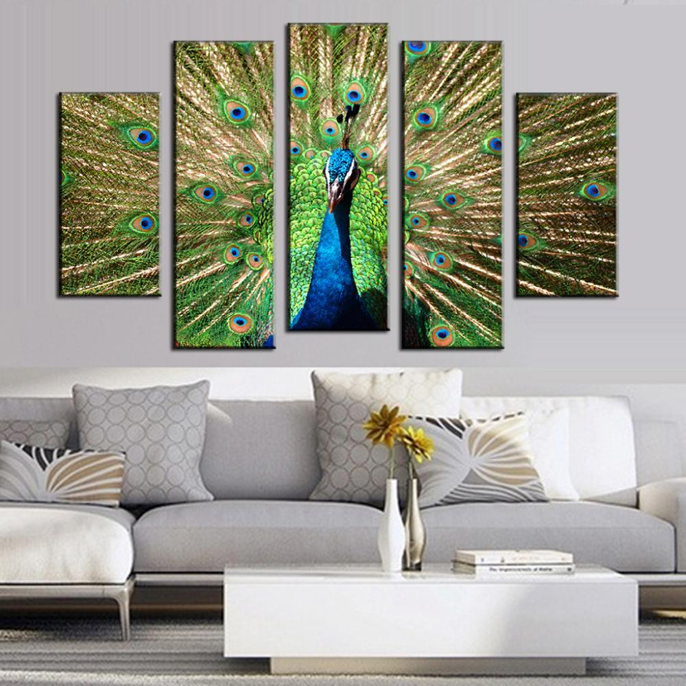 Pintura del pavo real compra lotes baratos de pintura for Decoracion hogar aliexpress