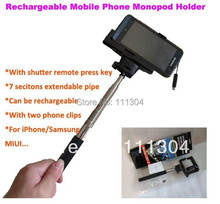 free ship Z07-5 Bluetooth Wireless Monopod Handheld Mobile Phone Holder for Over ios 4.0 / android 3.0 Smartphone Cradle Bracket