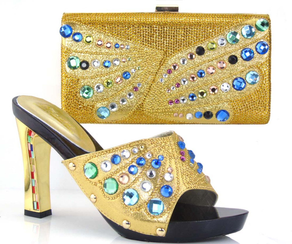 TH26-38 High heel with  New design italian shoes and bags set  with free shipping