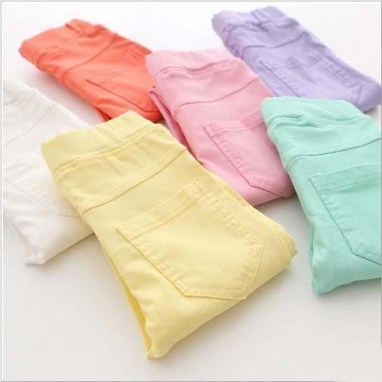 Новые 2015 детей брюки свободного покроя мода конфеты цветной карандаш брюки для девочек розницу 1 шт. ZZ2999