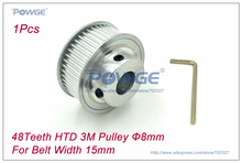 Buy 1pcs HTD 3M Timing Pulley 48 Teeth Bore 8mm Width 15mm HTD3M Open timing belt 3M Pulley Belt Laser Engraving CNC, 48Teeth for $13.99 in AliExpress store