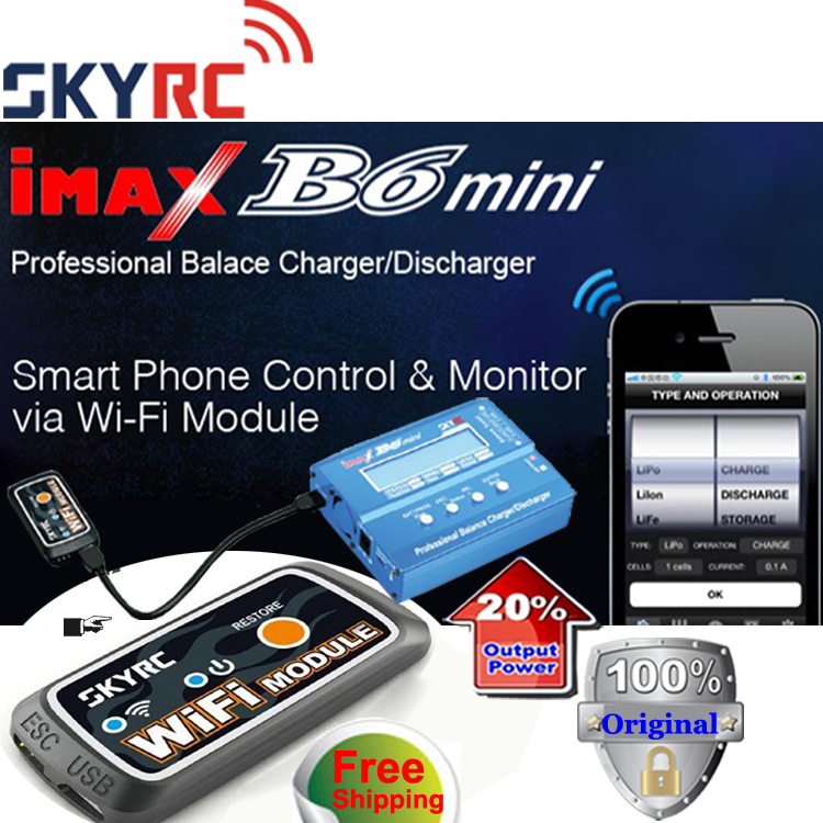 Original SKYRC Imax B6 60W Mini Professional Balance Charger Discharger  With WiFi Module With 12V 5A power Adapter For rc drone<br><br>Aliexpress
