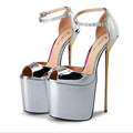 Men Women Ankle Strap High Heels Large Size Sexy Peep Toe High Heels Unisex Stilettos Sex