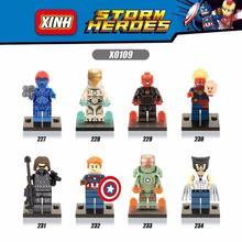 Super Heroes Captain America 3 Civil War Action Figure Building Blocks Iron Man Mystique Red Skull Minifigures Brick Toys X010