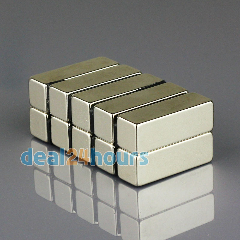 5pcs N35 Super Strong Block Magnet 30mm x 10mm x 10mm Rare Earth Neodymium Bulk <br><br>Aliexpress