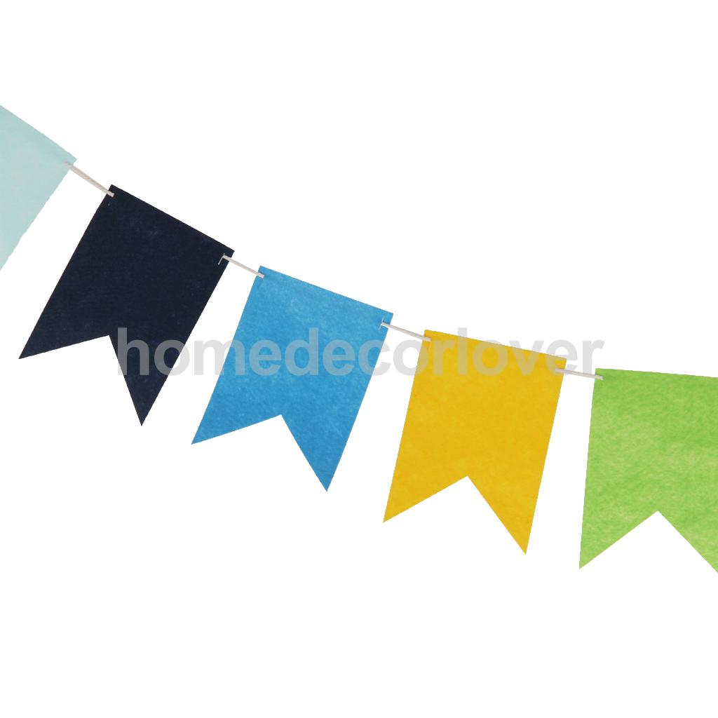 Felt Birthday Party Banner Bunting Flags Dessert Table Tent Home Decor Gift(China (Mainland))