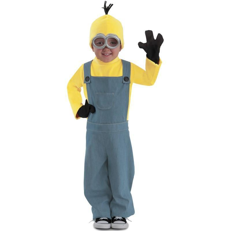 Recommend Full Set Boys Despicable Me Minion Movie Cosplay Clothing Child Halloween Carnival Fancy Dress Costumes(China (Mainland))