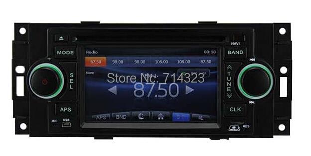 "In Dash 1.5 Din 5"" Car DVD For Chrysler 300C PT Cruiser Dodge Ram Jeep Grand Cherokee GPS Navigation Radio Bluetooth ATV iPod(China (Mainland))"