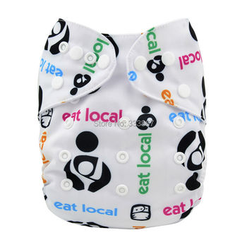 New Design Eat Local Baby Infant Pocket Cloth Diaper,1 Diaper +1 Insert/Nappy, Reusable Adjustable,Washable, Free Shipping