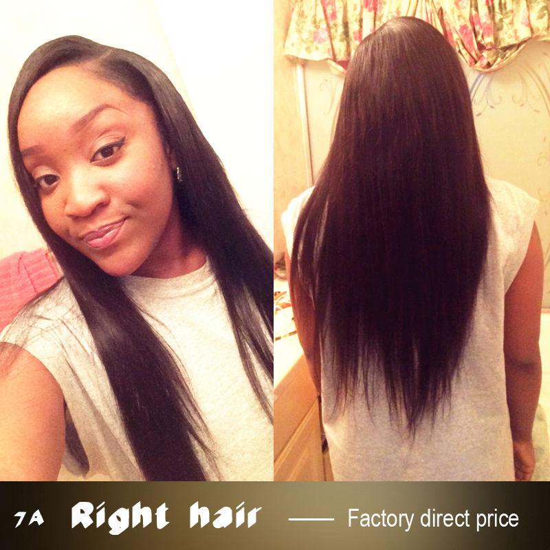 4 Bundles Indian Remy Straight Human Hair 7A Grade Indian Virgin Hair Bundles Cheap Indian Natural Black Hair Bundles 01S443(China (Mainland))