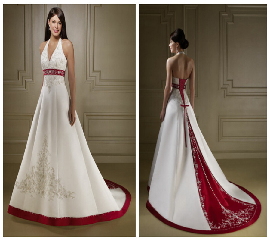 Red And White Wedding Dress Buy : Gallery for gt red and white beach wedding dress