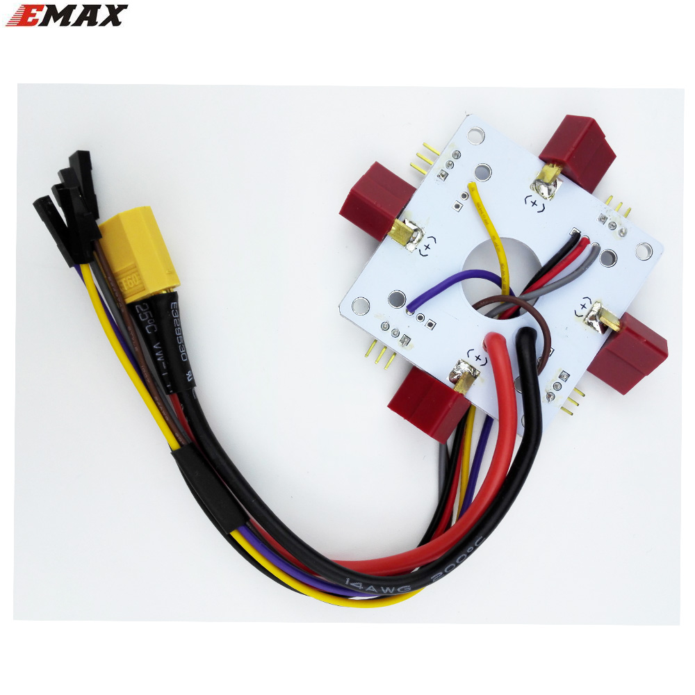 EMAX APM 4 axis electric connection plate quad power distribution board with XT60/T connector(China (Mainland))