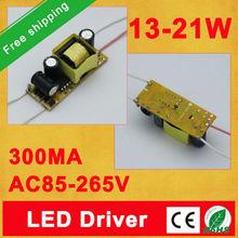 Free shipping AC85-265V Input for E27 GU10 E14 13-21*1W Led Driver 12W 15W 18W 20W 21W Lamp  Power Supply Lighting Transformers